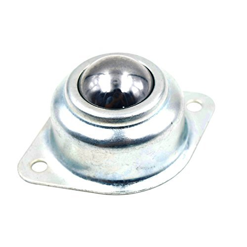 Puuli 4pcs 3//4 CY-19C 44-66lbs Bearing Carbon Steel Universal Ball Silver Tone Metal Base Ball Transfer Unit Mounted Bearing Transfer Bearings
