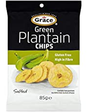 Grace Green Plantain Chips 85 g (Pack of 9)