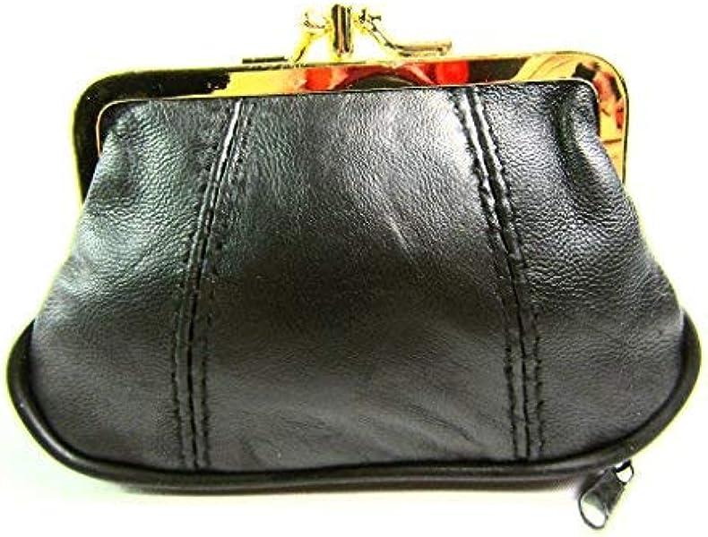 496df18cff4a Amazon.com: The Leather Emporium Men's Cliptop Purse Wallet Coin ...