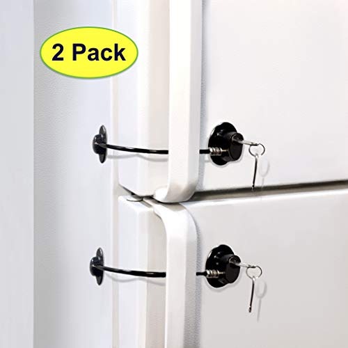Fridge Lock, Refrigerator Lock, mini fridge lock, File Cabinet Lock, Drawer Lock, Lock for Cabinet, Child Safety lock Refrigerator Door Lock, fridge door lock with key by ToolsGold (2 -