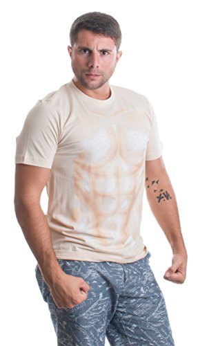 Muscle Man | Funny Halloween Costume Sexy Shirtless Man Costume Unisex T-shirt-Adult,S
