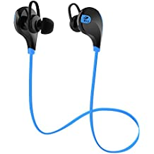 SoundPEATS Wireless Earbuds In-Ear Stereo Bluetooth Headphones with Mic for Sports Running (CVC6.0 Noise Reduction, Bluetooth 4.1, 6 Hours Play Time, Sweatproof ) - Black&Blue