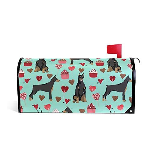 (Magnetic Mailbox Cover Doberman Pinscher Dog (2) Wrap- Standard Size 20.8