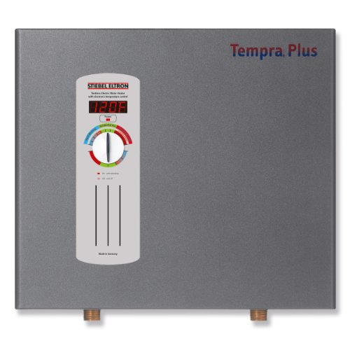 Stiebel Eltron 224199 240V, 1 Phase, 50/60 Hz, 24 kW Tempra 24 Plus Whole House Tankless Electric Water Heater, Advanced Flow Control (Tankless Water Heater Electric)