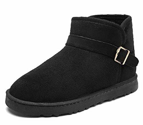 Stivali Alti Coppia Caldi Unisex Autunno Black Casual Modo Cotone Di Stivali Neve Inverno Di Stivali 2017 1aqFwvxda