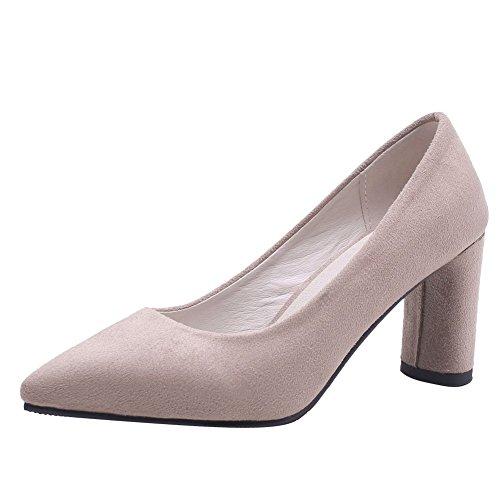 Charm Foot Womens Tacco Alto Scarpe A Punta Tacco Alto Scarpe Albicocca