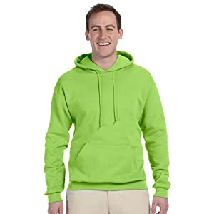 JERZEES Mens NuBlend Pullover Hooded Sweatshirt, Medium, Neon Green