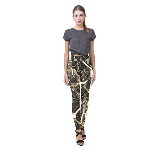 Honey Day House Modern Steampunk Fashion All Over Printing Leggings for Women