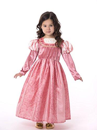 Little Adventures Coral Renaissance Dress Up Costume For Girls - Medium (3-5 Yrs)