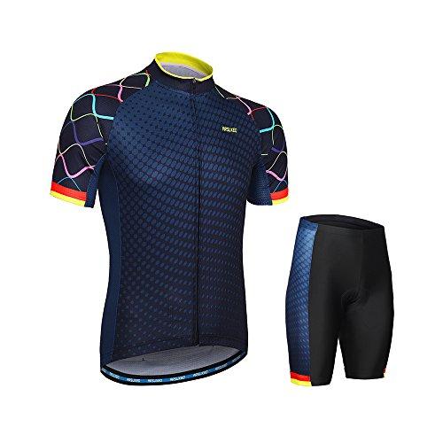 表向き熱心なパノラマLIXADA サイクルジャージ 上下セット サイクリングウェア スポーツウェア 半袖ウェアセット 夏用 高弾性 吸汗速乾 通気がいい