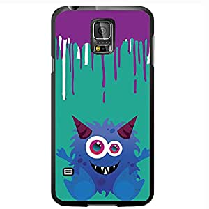 Blue Monster on Paint Drip Background Hard Snap on Phone Case (Galaxy s5 V)