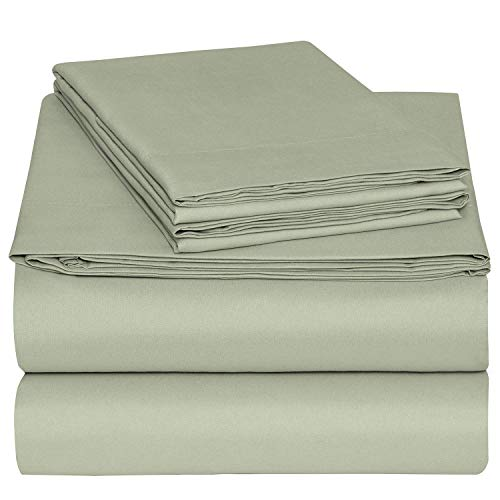 (Bedding Overseas Cotton Sheets Set 6 Inches Deep Pocket 400 Thread Count 100% Cotton Bed Sheets for RV -Trucks,Camper,Bus,Boat and Motorhomes (RV Twin 38 Inches X 75 Inches,Sage Solid))