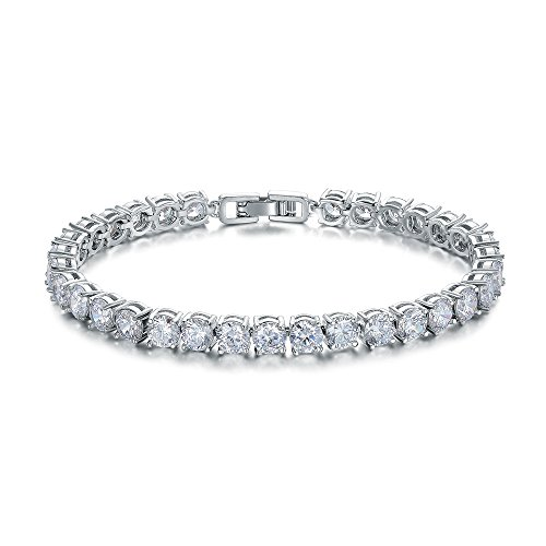 ASHMITA Fashion Tennis Bracelet for Women,Cubic Zirconia Platinum Plated Bracelet of Luxury Shining Gift Jewelry