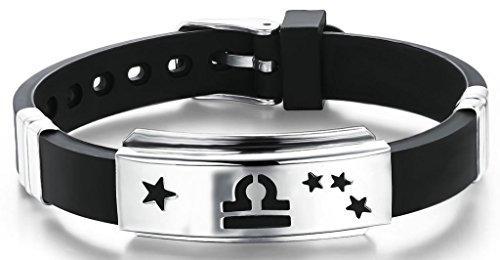 AnaZoz Jewelry His and Hers 12 Constellation Zodiac Sign Logo Charms Bracelet -- Libra