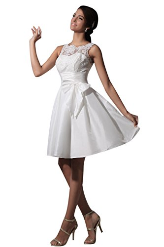 New Sposa Taffeta and Lace Short Formal Dress Wedding, used for sale  Delivered anywhere in USA