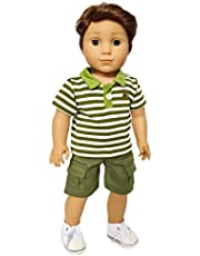 Brittany's Green Polo Set for American Girl Boy Doll Clothes-18 inch Doll Clothes- Logan is not Included