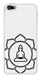 Buddha Lotus Symbol Snap-On Cover Hard Plastic Case for iPhone 5/5S (White) wangjiang maoyi