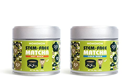 Nohohon Ceremonial Stem-Free Matcha 2 pack! (Hot and Cold Brew)