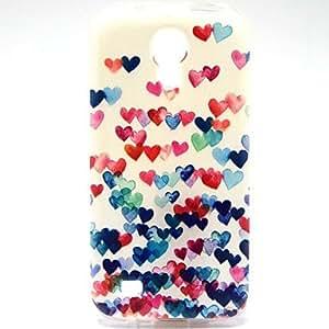 WQQ estuche blando multicolor de corazón formas patrón ultrafina del tpu para mini i9190 Samsung Galaxy S4