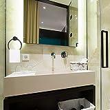 VINCREY Stainless Steel Black Towel Ring and Toilet