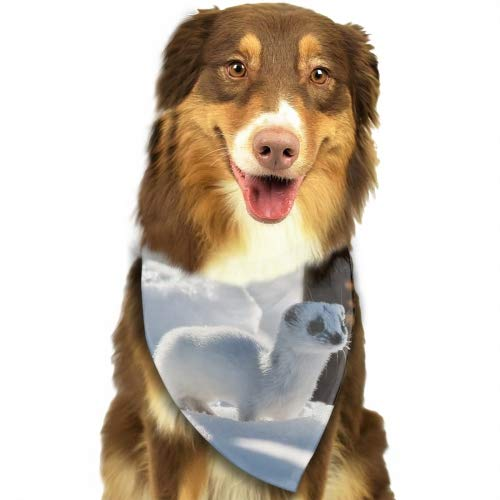 Pet Dog Bandana Triangle Bibs Scarf Ferrets White Winter Accessories for Dogs, Cats, Pets Animals
