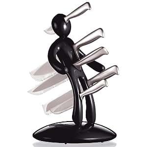The Ex 5-Piece Knife Set with Unique Black Holder