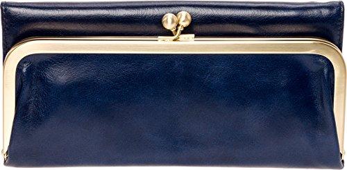 Hobo Womens Rachel Vintage Wallet Leather Clutch Purse (Indigo) by HOBO