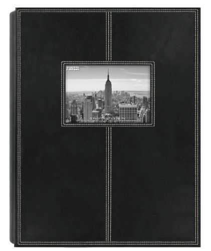 Pioneer Photo Albums 5PS-300 300-Pocket Sewn Leatherette Frame Cover Photo Album, Black - 300 Pocket Photo Album