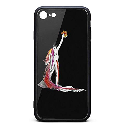(IPhone7 iPhone 8 Case Ultra Slim Case Freddie-Mercury-Hand-Painted- Anti-Finger Phone Cover Case Compatible with iPhone7 iPhone 8 Case)