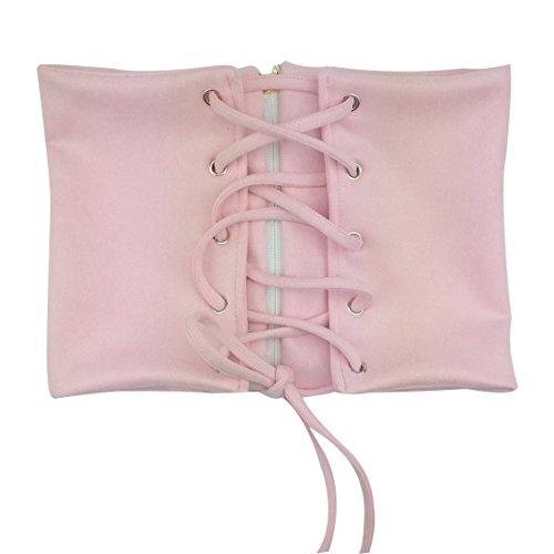 Soft Vintage Suede Wide Band Self Tie Wrap Around Corset Belt / Women Waist Belts