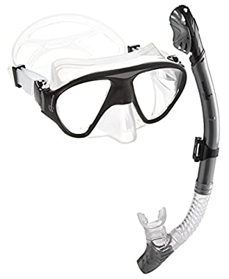 Phantom Aquatics Signature Mask Dry Snorkel Set, Silver