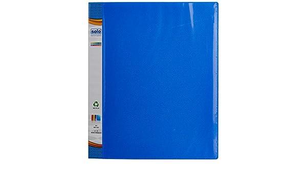 Solo RB 405 Anillo binder2dring con vista frontal bolsillo A4 azul: Amazon.es: Oficina y papelería