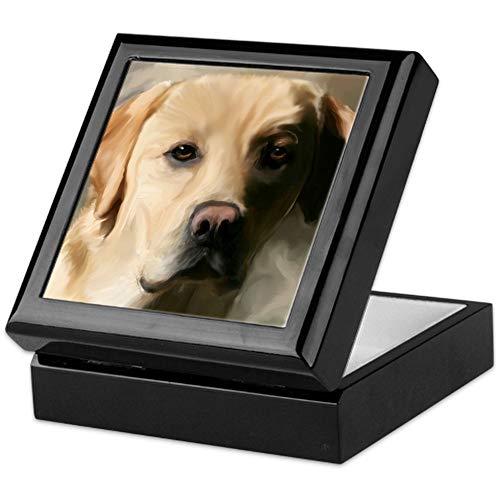 CafePress 16X20yellowlab Keepsake Box, Finished Hardwood Jewelry Box, Velvet Lined Memento - Box Labrador Tile