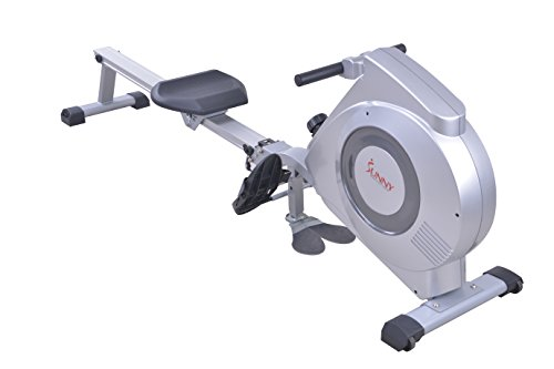 Sunny Health & Fitness SF RW5612 Dual Function Rowing Machine Rower w/ LCD Monitor