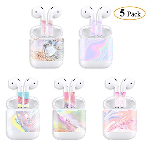 Fastcar7 Airpods Skin Stylish Sticker Compatible for Apple Airpods Earbud and Charging Box, Personalized Protective Sticker Your Airpods Mutiple Pack of 5