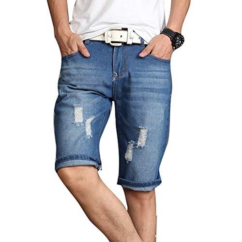 Uomo 2 Fori Pantaloncini Saoye Estivi Giovane Qualità Distrutti Fashion Cotone Corti Di Jeans Da Pantaloni Miscela Alta RqXTwaqAx