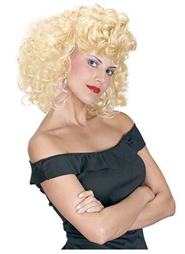 ESSA OAT clothes series Cool 50's Girl Grease Sandy Wig Adult Costume Accessory]()