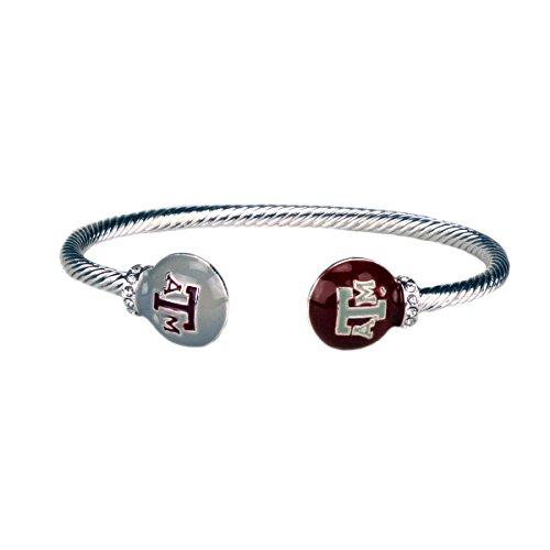 - Sandol Texas A&M Aggies Brady Cuff Bracelet with Double Circle Logo