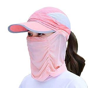 qishengshengwukeji Cappello da Sole Cappello Pescatore Mens Cappelli di Sun UV di Protezione Unisex del Cappello del Sole All'aperto Cappello del Sole per La Pesca Orange 10 spesavip