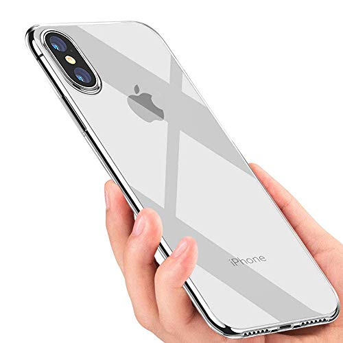 MKOAWA Case for iPhone Xs Max, Reinforced Corners TPU Bumper Cover Ultra Thin Slim Fit Soft Silicone TPU Case Compatible with iPhone Xs Max 6.5 inch (2018 Release), Crystal Clear