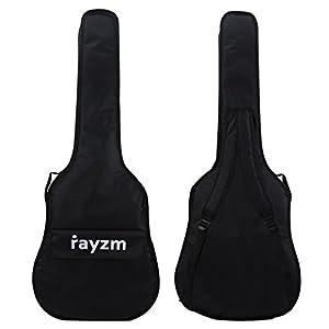 Rayzm Gitarrentasche/Gitarren-Bag für 41″(Full Size) & 40″ Akustikgitarren.600D Oxford Nylon, 10mm Polsterung Gitarren-Gigbag, 2 Schultergurte,1 große Fronttasche.