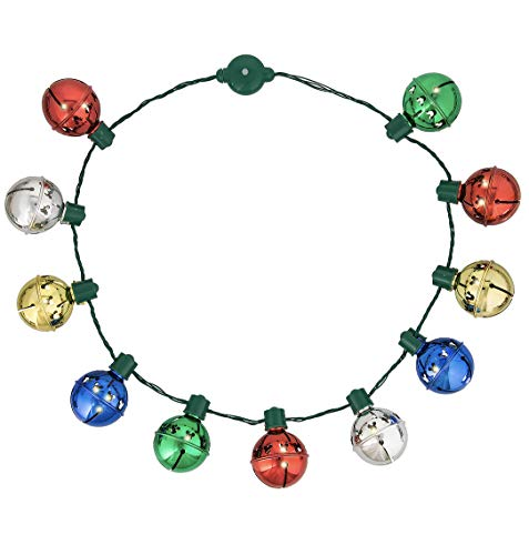 Christmas Bells Mouse - Disney Parks Mickey Mouse Bell Christmas Holiday Glow Necklace