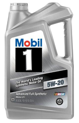 Mobil 1 85002 5W-20 Synthetic Motor Oil - 5.1 Quart Jug (Pack of 4)