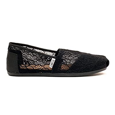 TOMS Women's Classic Slip-On (8, Black Lace)