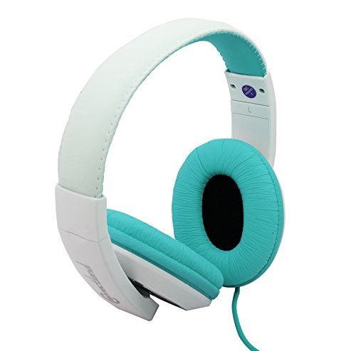 Connectland Stereo Wired Headphone & Microphone Lightweight 40mm Speaker Music Gaming Stylish Teal CL-AUD63035
