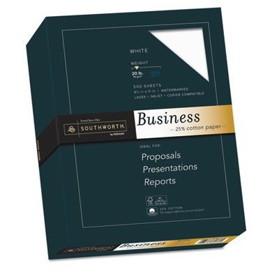 Southworth? Credentials Collection Fine Business Paper, White, 20lb, Letter, 500 Sheets by Southworth??