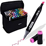80 Colors Alcohol Marker Dual Tip Permanent Art Marker Sketch Marker Adult Pen Coloring Illustrated Picture Card Draw a sketch with carrying case