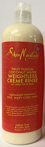 Shea Moisture Fruit Fusion Coconut Water Weightless Creme Rinse (16 Ounce)
