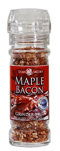 Dean Jacob's Maple Bacon in a 1.7 oz. Refillable Glass Grinder