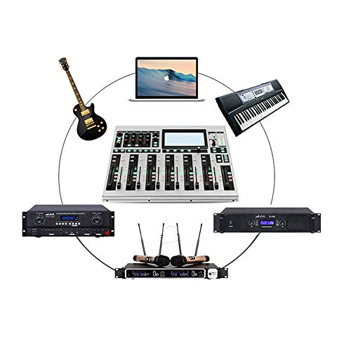 Teerwere DJ Controller 16-Channel Digital Power Mixer DSP Digital Effects Processor Recording Remote Conference Wedding…
